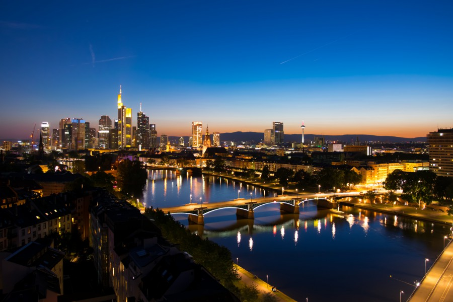 Frankfurt blue hour