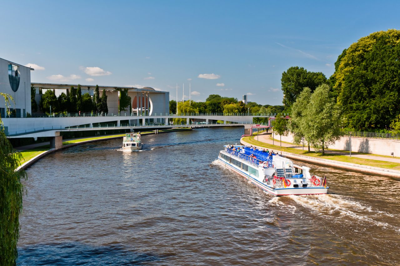 Amusement boats on Spree river, Berlin
